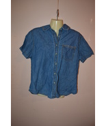 "Women's Denim Shirt by Wrangler Size L Large (Bust 28"") RRM337 - $10.69"