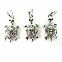 Turtle Rhinestone Jewelry Bracelet Necklace Pendants Charms - $14.98