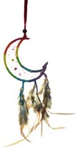 "3"" Crescent Moon Rainbow dream catcher - $11.00"