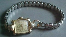 ladiesWyler Incaflex wristwatch Swiss 17 jewel-band Admiralus 1/20-10K-4... - $3.59