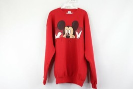 Vintage 90s Disney Mens XL Mickey Mouse Spell Out Crewneck Sweatshirt Re... - $29.65