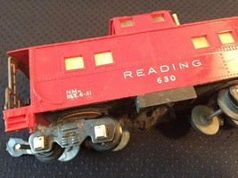 American Flyer Railroad Car Reading #630 - Red Caboose image 5