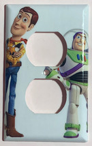Toy Story Woody Buzz Lightyear Light Switch Outlet wall Cover Plate Home Decor image 2