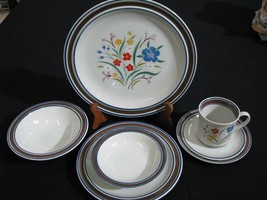 New Mint 24 Pc. Salem Stoneware Georgetown Floral  4 Six-Piece Place Set... - $199.99