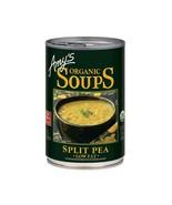 Amy's Organic Low Fat Split Pea Soup 14.1 oz ( Pack of 12 ) - $43.07