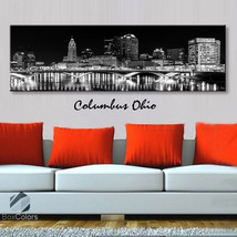 Single panel Art Canvas Print City Skyline Columbus Ohio Downtown Wall d... - $54.99+