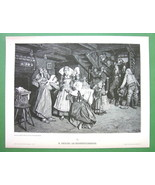 YOUNG BRIDE Morning of Wedding Day  - VICTORIAN Era Print - $12.15