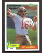 JOE MONTANA Rookie Card RP #216 49ers RC 1981 T Free Shipping - $3.00