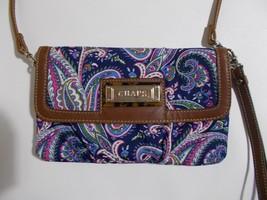 Chaps Ralph Lauren Crossbody Purse Blue Paisley Print - $19.79