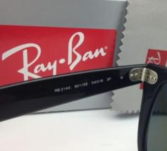 New Ray-Ban Polarized Sunglasses RB 2140 901/58 54-18 WAYFARER Black Frame/Green image 12