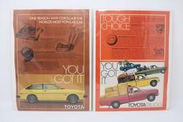 1979 Toyota Corolla SR-5 Liftback & 1977 Toyota Trucks Vintage Print Ads... - $13.86