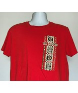 Hawaii Lifestyle Tiki Legends T Shirt Mens Large Red 100% Cotton - $21.73