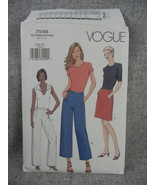 Misses A Line Skirt and Straight leg Pants 2 lengths Vogue 7546  Size 6,... - $10.00