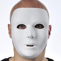 "Full Face White Mask (6 1/4"" x 7 3/4"") w/ Elastic Band - $6.64"