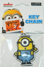 Despicable Me 2 Movie Carl Minion Rubber Keychain, LICENSED NEW UNUSED - $5.94