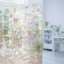 3D Decorative Window Tint Film Anti Uv Static Glass Sticker Rainbow Colo... - $13.83