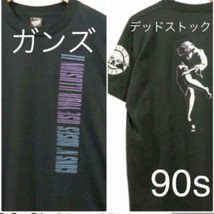 Guns N 'Roses Early 90's L size Black Color T-shirt Rare Vintage Used - $220.76