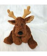 "16"" Hallmark Comet Reindeer Brown w Bell Collar Beanbag Plush Stuffed To... - $14.97"