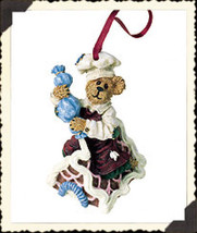 "Boyds Bearstone ""Simon...Icing Touches"" Ornament- #25746 -2E - NIB- 2001... - $18.99"
