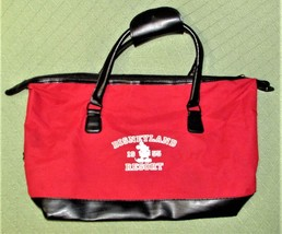 "Disneyland Resorts TOTE BAG Large Size RED Double Handles 19""x10"" FOOTED Mickey - $9.95"