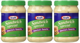 Kraft, Sandwich Spread, 15oz Plastic Jars (Pack of 3) - $21.66