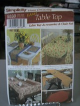 Simplicity 5530 Table Top Accessories & Chair Pad Pattern - $6.92