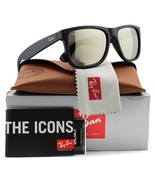 RAY-BAN Justin Rare Sunglass RB4165 622/5A 55mm Matte Blk w/Gold Mirror - $196.11