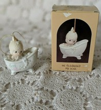 Enesco Precious Moments He Cleaned My Soul  Figurative Ornament 1987 - $14.54