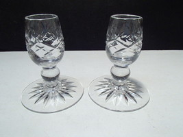 "2 Brierley 3 1/2"" Cut Crystal Candles ~~ nice ones - $19.99"