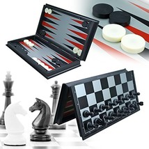 UWANTME 3-in-1 Game Set - Chess Checker and Backgammon - $36.77