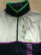 Vintage Men's Navy Purple Green Zip Fila Tennis Windbreaker Tracksuit Ja... - $12.99