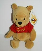 "Winnie the Pooh Bear 8"" Bean Bag Small Plush Soft Stuffed Walt Disney World NEW - $16.37"