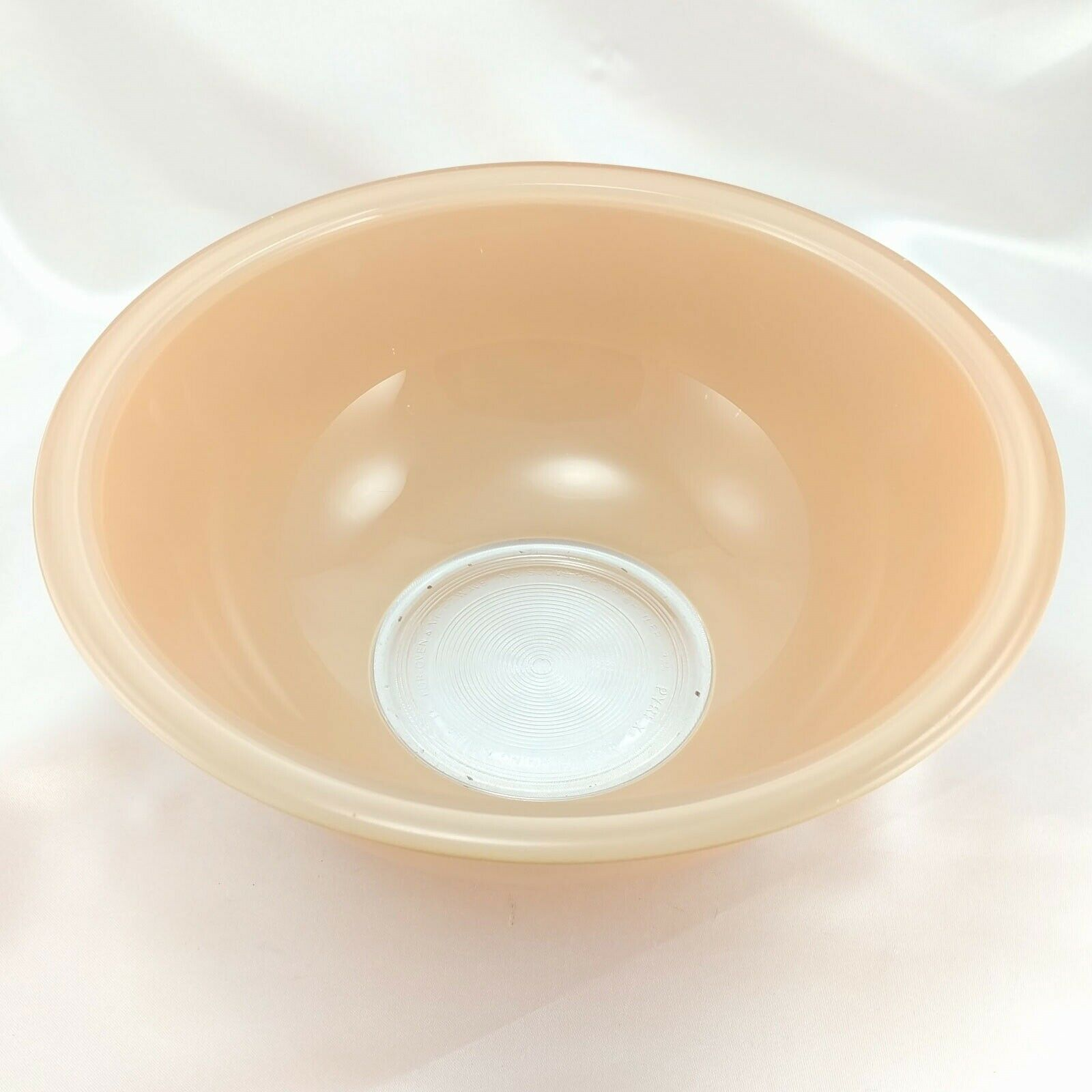 Pyrex 325 Clear Bottom Bowl Beige & Tan Vintage 2½ qt Serving Made in the USA image 2