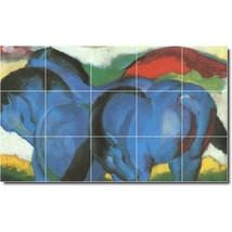 Franz Marc Horses Painting Tile Murals BZ05713. Kitchen Backsplash Bathroom Show - $150.00+