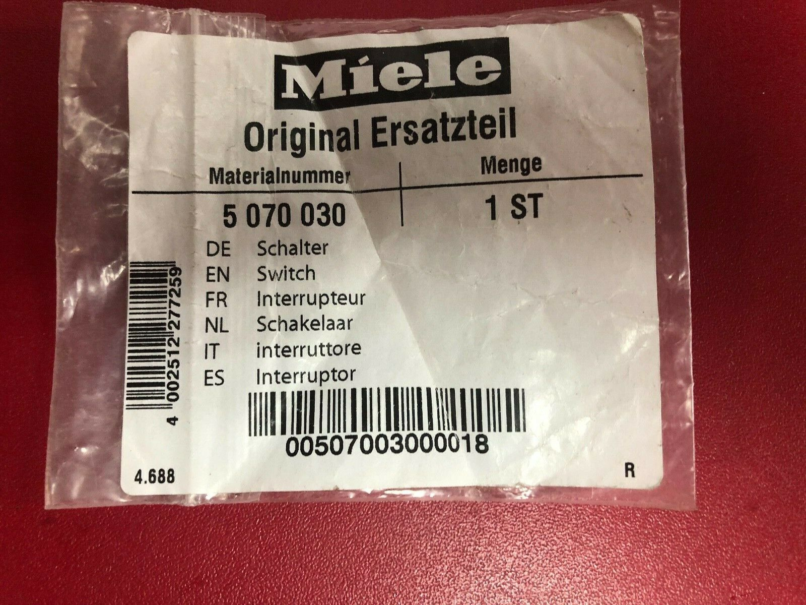 Primary image for  Miele Coffee Machine Microswitch Part 5070030