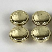 Vintage Knobs Pulls Polished Gold Tone Metal Patina 8 Pc Lot Drawer Cabinet  image 10