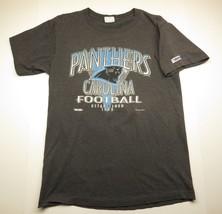 1993 Carolina Panthers NFL Football Grey Striped Graphic Men's T-Shirt S... - $29.66