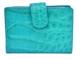 Classic Shape Medium Turquoise Prepossessing Real Crocodile Leather Men Wallet - $176.39
