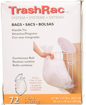 Trashrac Refill Bags 87072 for 5 Gallon Frame-72 Count - $21.56