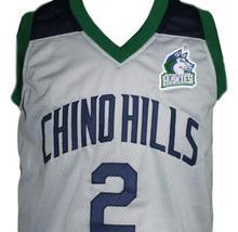 Lonzo Ball #2 Chino Hills Huskies Basketball Jersey New Sewn Grey Any Size image 4