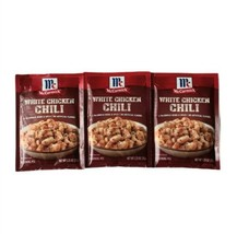 (3) McCormick WHITE CHICKEN CHILI Mix Spice Seasoning Packs 1.25 Lot BB ... - $14.74