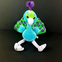 Ganz Webkinz Plush Pretty Peacock HM498 Blue Green Bird Stuffed No Code ... - $24.74
