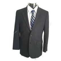 Jos A Bank KENT 38R Blazer Navy Blue Wool Pinstripe 2-Btn Jacket Sportcoat - $39.59