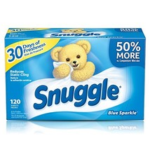 Snuggle Fabric Softener Dryer Sheets, Blue Sparkle, 120 Count - $14.38
