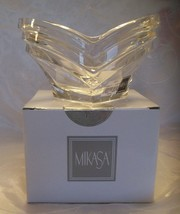 """Mikasa DECO Bowl -6 1/2"""" Crystal Votive Candle Holder Germany SN 027/718... - $9.95"""