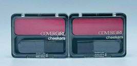 2 x Covergirl 140 PLUMBERRY GLOW Cheekers Blush New Factory Sealed Free ... - $14.99