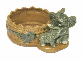 """Elephant Ceramic Pot Large 3 Layers Tower Bamboo Pot (H3.6"""" X W6"""") - $22.76"""