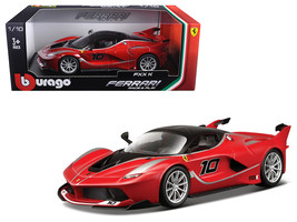 Ferrari FXX-K #10 Red 1/18 Diecast Model Car by Bburago - $62.13