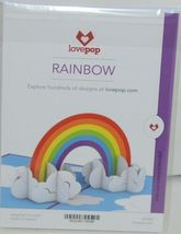 Lovepop LP1859 Rainbow Pop Up Card  Slide Out Note Envelope Cellophane Wrap image 6