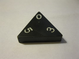 1985 Tri-ominoes Board Game Piece: Triangle # 0-3-5 - $1.00